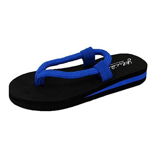 KonJin Women Flip-Flop Sandals Summer Beach Home Slipper Flat Bohemia Style Roman Clip Toe Flip Flop Casual Shoes (Teal Womens Tennis-schuhe)