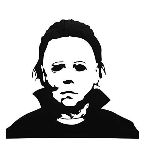Bureze Halloween-Dekoration, abnehmbare Glas-Fenster-Wandaufkleber, gruseliger Terror, Schwarz