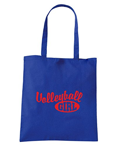 T-Shirtshock - Borsa Shopping OLDENG00824 volleyball girl Blu Royal