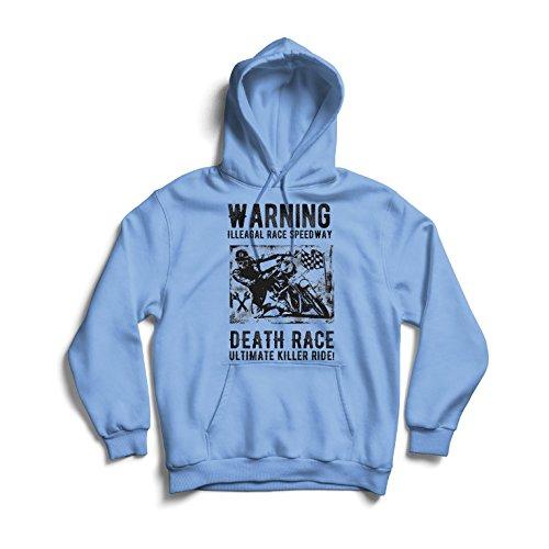 lepni.me Kapuzenpullover Todesrennen - ultimative Killerfahrt, Motorradrennen, Klassiker, Vintage, Retro-Schädel-Biker, Motorrad (Large Blau Mehrfarben)