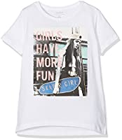 Name It Girl's Nitjip Ss Top Nmt T-Shirt, White (Bright White), 158