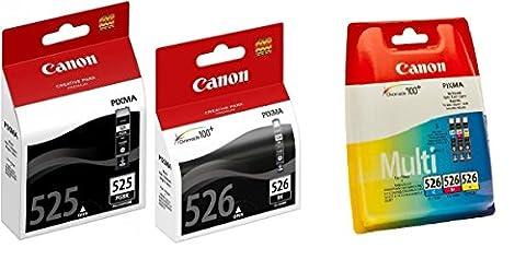 Canon CLI-526 Set 5 Canon Originalpatronen: je 1 x PGI-525BK, CLI-526BK, CLI-526C, CLI-526M, CLI526Y für