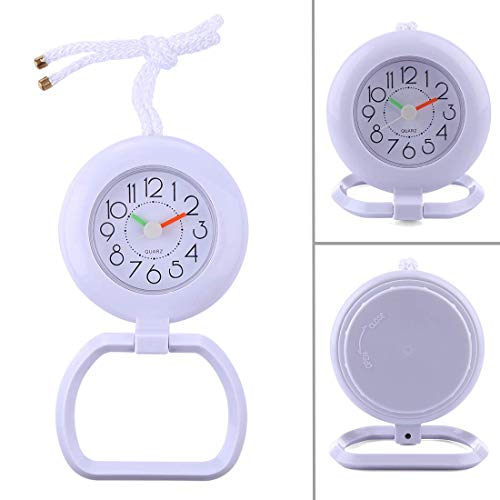 BANDRA Mini Wanduhr Wasserdicht Nicht Ticking Stille Dusche Uhr Batteriebetriebene Tisch Wanduhren für Büro Badezimmer Schlafzimmer (Batteriebetriebene Dusche)