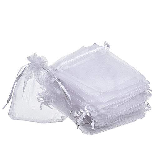nktüten weiß Hochzeit Party Favor Taschen Schmuck Beutel Wrap (50Stück, 10,2x 12cm) ()