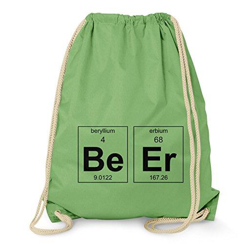 TEXLAB - Beryllium and Erbium = Beer - Turnbeutel, hellgrün - Bier Humor Grünes T-shirt