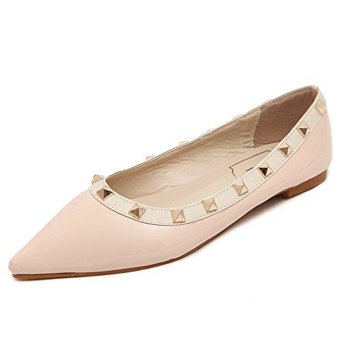 XDGG donne scarpe basse Sandali Rivetti Anti-Wolf pattini della bocca poco profonda singoli pattini pink