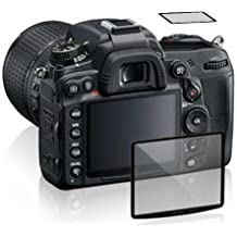 Maxsimafoto® - Protector de Pantalla LCD de Cristal para Nikon D7200 D7100 - Alta Transparencia