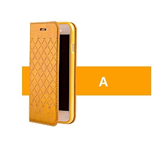 Coque iPhone 7,Coque iPhone 7 Plus, Coque iPhone 6/6S, Coque iPhone 6Plus/6S Plus, Coque iPhone 5/5S/SE, [Porte-cartes] étui Protection en Cuir Portefeuille multi-Usage Housse Rabattable(LXT-02) A