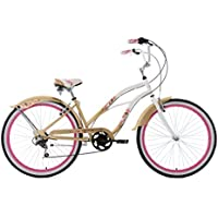 KS Cycling Damen Beachcruiser 26'' Cherry Blossom weiß-Gold Fahrrad, Zoll