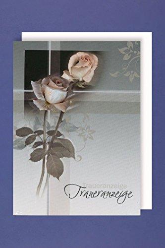 5er Mehrstückpackung Rose 5 Doppel Karten 15 x 11cm ()