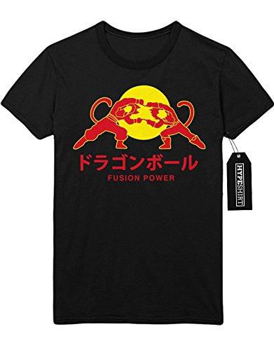 T-Shirt Vegeta Son Goku Fusion Power Red Bull Logo Dragon Ball Z GT Super Trunks Gohan C980009 M (Kind Gohan Kostüm Son)