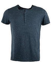 08c084857b4 Best Mountain Tee Shirt Manches Courtes col Tunisien Homme XL Vert Fonce