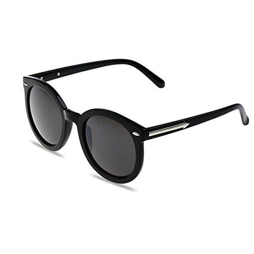 Beach Schwarz Oval Frame Grau Spiegel-Objektiv-Retro Brillen Tages Sonnenbrillen