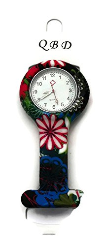 qbd-clip-series-nurses-glowing-hands-red-cross-patterned-silicon-rubber-fob-watch-black-floral-24