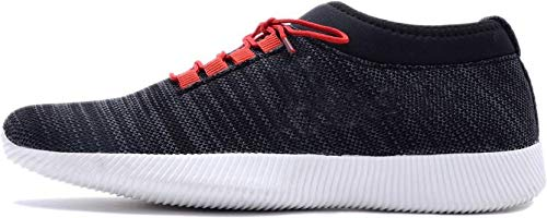 Red Rose Men's Sneakers Casual Shoes (7 UK/India (41 EU), Black)