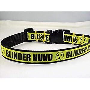 "Halsband""Blinder Hund"" bis 55 cm Halsumfang"