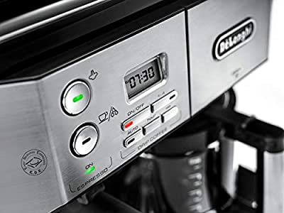 De'Longhi BCO431.S Combi Coffee Machine, Black and Stainless Steel from De'Longhi
