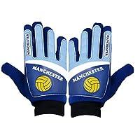 ARSUK Goalkeeper Gloves Kids Junior Football Soccer (Manchester City)