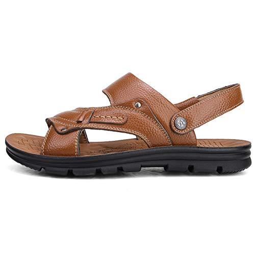 Männer Leder Strand Sandalen gucken Toe Haken Schleife Anti geschoben leicht Wasser lässigschuhe Sommer Schuhe Hausschuhe für Outdoor aktivität sonnenbad entspannend -