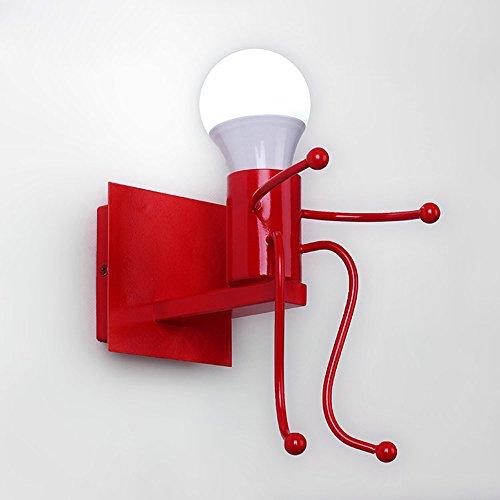 Modeen Creative Iron Villain Stickman Cartoon Enfants Lampe Murale Moderne Simple Creative Pour Hug Modélisation Chevet Lecture Metal Mur Lumières Pour Salon Enfants Chambre Couloir Luminaires