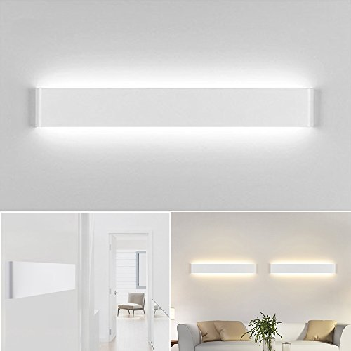 Bay Aplique Pared Interior LED Diseño Moderno Cómodo, Blanco Frío 6000K, 20W Equivalente a 75W , AC85-265V Decoración para Salon Pasillo Escalera Dormitorio Baño No Regulable Longitud 60cm