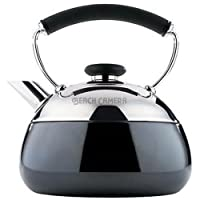 Wilton Brands 2502-8307 Copco Fusion Stanless Steel with Pewter Enamel Finish Tea Kettle - 2 Quart Capacity