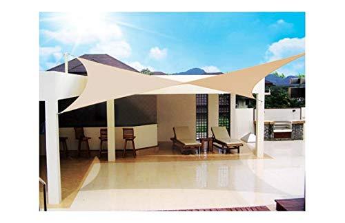 Voile d'ombrage voile Sombreo 'imperméable' carré 3 m beige 260 gr