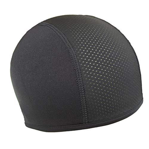Finebuying Helminnenkappe, feuchtigkeitstransportierender Hut Kühlkappe Schädelkappe Inner Liner Helm Beanie Dome Cap Schweißband (Schwarz) -