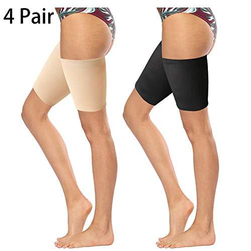 FANTESI 4 Paar elastische Oberschenkel-Bänder, Anti-Scheuern Oberschenkel-Bänder verhindern Scheuern der Oberschenkel Beinbänder, unsichtbare Oberschenkelbänder Gr. A, - Einfach Paar Kostüm Zu Machen