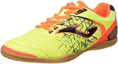 Joma Maxima 611 Limon Fluor-Naranja Fluor Indoor, Botas de Fútbol para Hombre