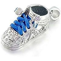 Bling Jewelry 925 CZ High Top Sneaker Boy Blue Baby