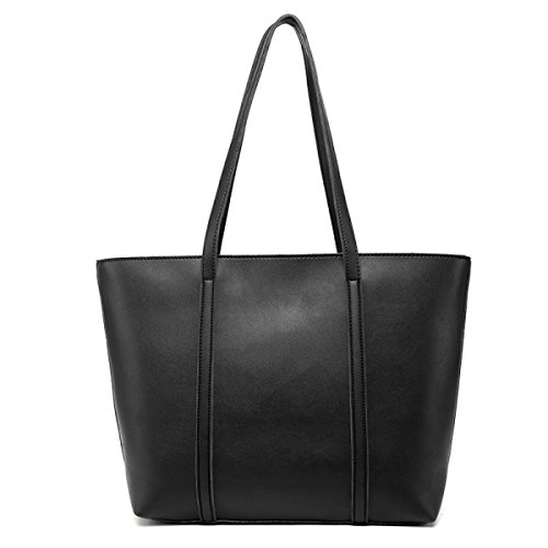 Tote Casuale Con Decorazione In Metallo Per Le Donne Tassel Black