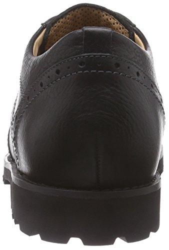 Ganter Gregor, Weite G, Derbies à lacets homme Noir - Noir (0100)
