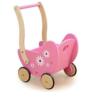 Millhouse Wooden Daisy Dolls Pram (Pink)