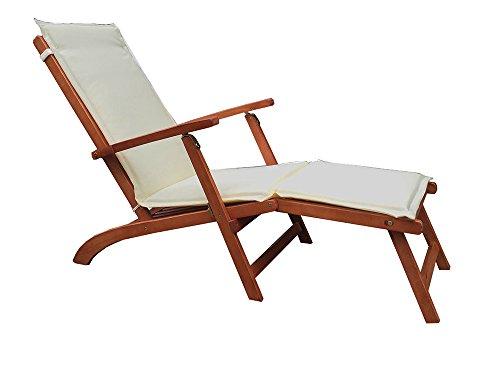 Sedia A Sdraio In Legno : Guidetti 3080l sdraio legno con cuscino per esterno 149 x 60 x 94