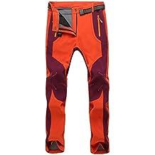 YiLianDa Pantalones de Trekking Softshell Pantalones Impermeables  Resistente Pantalones de Escalada e6a9d24633d4