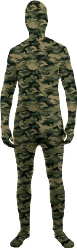 Disappearing Man Invisible Costume Jumpsuit Child: Camo (Invisible Kid Kostüm)
