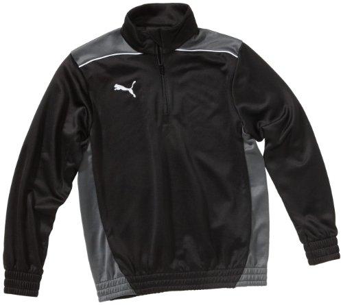 PUMA Kinder Langarmshirt Foundation Half Zip Top, Black-Dark Shadow, 152, 653384 03 (Zip Half Shadow Pullover)
