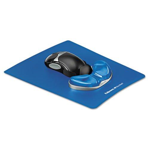 Gel gleiten Palm Support w/Maus Pad, blau -