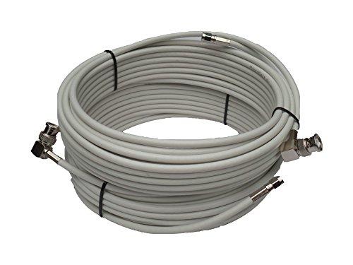 Hochwertiges low-loss 10m Twin-Kabel in bürofreundlichem hellgrau für Novero Funkwerk Dabendorf LTE-MIMO-Antenne 800, 1800, 2600 - Low Loss-anschluss