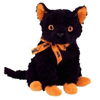 Ty Halloweenie Beanie Fraidy - Black Cat