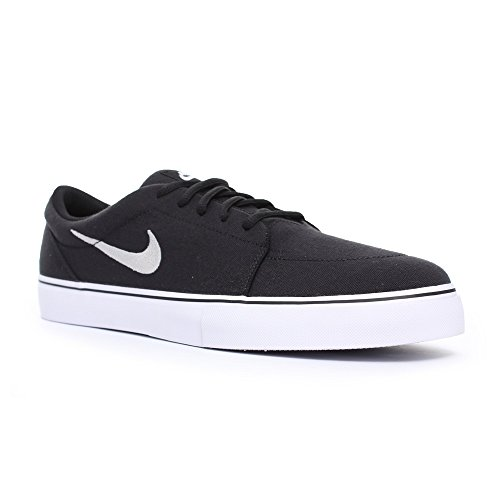 Nike Satire Canvas, Scarpe da Skateboard Uomo Black/White