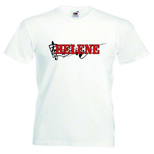 T-Shirt Herren Motiv-019 Größe L Farbe Weiss