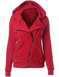 CHENGYANG sudaderas con cremallera y capucha Hooded Sweatshirt Casual Jacket Sportswear Manga Larga Chaqueta Corta jumper top para mujeres