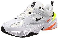 Nike Herren M2k Tekno Fitnessschuhe Mehrfarbig (Pure Platinum/Black/Sail/White 004) 45 EU