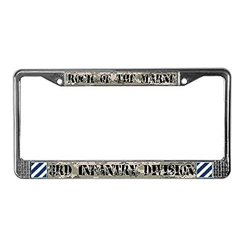 CafePress 3rd Infantry Division License Plate Frame License Frame - Standard