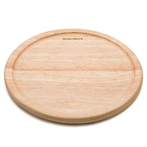 Groove-holz (GreenMore Naturkautschuk Holz rechteckig Schneidebrett mit Groove Juice Drip, Best Küche Schneidebrett für Fleisch, Käse und Gemüse 40CM X 28CM X 1.5CM (25,40 cm))