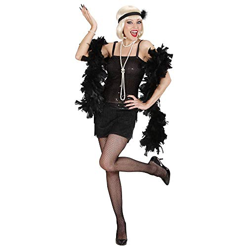 Costume da charleston, nero, taglia s