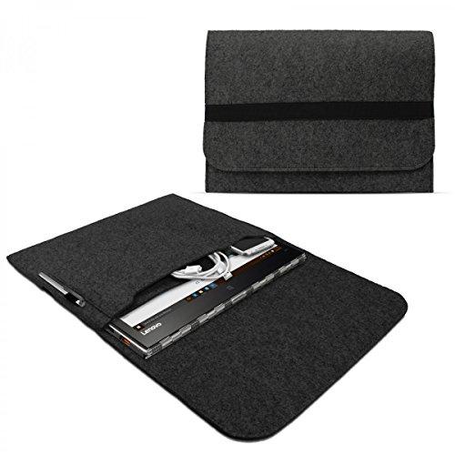 eFabrik Schutztasche für Lenovo Yoga 900, Yoga 900S, Yoga 910, Yoga 920 Tasche aus Filz Filztasche Case Sleeve Soft Cover Schutzhülle Sleeve, Farbe:Dunkelgrau