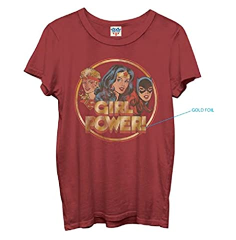 Junk Food Girl Power Red T-Shirt (Juniors